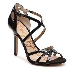 Sam Edelman Annabelle Black Patent Strappy Heels